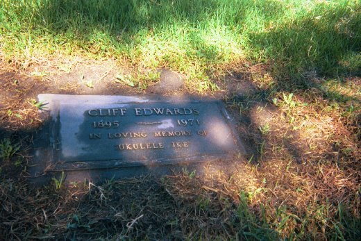 Photo-Cliff Edwards Headstone.jpg (73877 bytes)